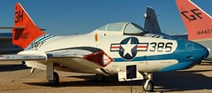 USN Grumman TAF-9J Cougar jet trainer, 1960s - Pima Air & Space Museum, Tucson, Arizona. (edk7) Tags: arizona usa plane airplane fighter tucson aircraft aviation military jet 1960s bomber usnavy usn trainer coldwar koreanwar unitedstatesnavy nikond3200 singleseat pimaairspacemuseum 2013 arizonaaerospacefoundation grummantaf9jcougar edk7 af9j sn141121f9f8b1950s prattwhitneyj48p8acentrifugalcompressorturbojet7250lbf