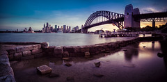 Timeless Sydney Sunset (Luke Zeme Photography) Tags: ocean longexposure sunset sea panorama skyline twilight glow cityscape bright harbour sony sydney australia nsw nd newsouthwales bluehour brilliant northsydney luminance sydneyoperahouse sydneyharbourbridge sydneyskyline ndfilter bontanicalgardens a7r australianphotography zeme luminositymasks lukezeme australiancityscapes