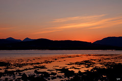 Dusk (AllTheGoodIDsAreTaken) Tags: sunset mountains reflection skye water scotland dusk isle broadford