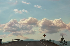 Cotton candy (alexzco) Tags: road travel viaje blue sky mountains sol beautiful azul clouds way candy camino carretera bonito tranquility cotton nubes montaas tranquilidad