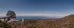 Panorama / Telescopio Nazionale Galileo TNG / Roque de los Muchachos Observatory / 2200 Metres / Canary Islands / La Palma / 2016 (Martin Lovekosi) Tags: blue sea sky panorama cloud sun holiday nature beautiful radio de landscape volcano islands la los europe view space observatory level roque canary palma radar newton 2200 galileo tng nazionale telescopio 2016 muchachos keppler metres 2500m