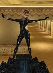 32 (SoakinJo) Tags: leather fetish heels catsuit wetlook wetclothes imvu extremeheels