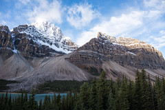 Icefields Parkway (flippers) Tags: trees mountain lake snow canada tree forest snowcapped alberta bowlake snowcap