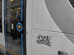 Midland Metro Tram 37 Ozzy Osbourne (metrogogo) Tags: reflection birmingham tram 37 tramway blacksabbath ozzy ossie birminghamuk ozzyosbourne ozzieosbourne midlandmetro birminghamtram urbos3 tram37 tram37ozzyosbourne