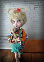 Agatha Doozles (Pink Anemone) Tags: cute goofy high doll ooak after custom ever repaint alisun