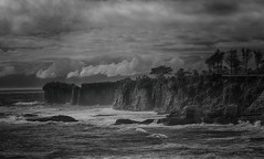 The Storm (Little Booby) Tags: new seascape nature clouds landscape island rocks waves south dramatic zealand cape westport foulwind