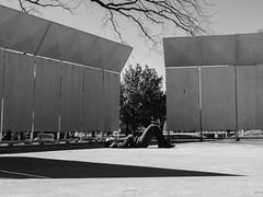 A Quiet Space (BurlapZack) Tags: street portrait bw monochrome easter mono spring nap quiet candid stage platform rest asleep naptime springtime easteregghunt pack06 dentontx aquietspace quakertownpark vscofilm olympusomdem5markii olympusmzuikoed1250mmf3563ez