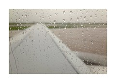 wing1 (lux fecit) Tags: rain tarmac airport nice wing pale raindrops