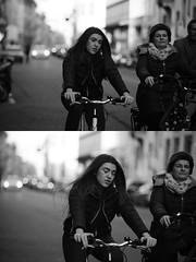 [La Mia Citt][Pedala] (Urca) Tags: portrait blackandwhite bw bike bicycle italia milano bn ciclista biancoenero bicicletta 2016 pedalare dittico 85578 ritrattostradale nikondigitalemir