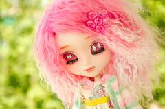 Purpurina (Alix Real) Tags: pink alpaca face make up toy doll dolls kei ooak m fairy 25 wig mohair figure mio groove pullip kit custom decora pullips cardigan akai sbh obitsu junplanning