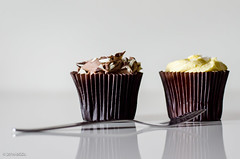 Chocolate or Lemon??!! (BGDL) Tags: kitchen muffins fork odc decisionsdecisions niftyfifty nikond7000 bgdl afsnikkor50mm118g lightroomcc chocolateandlemon