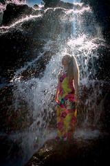 20160625-Sun Falls --2 (napaeye) Tags: lake tahoe napaeye laketahoe waterfalls fallenleaflake lillylake california ca women hairflip