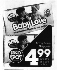 Baby Love Nappies (RS 1990) Tags: price design australian australia packet woolworths nappies microfilm babylove slsa