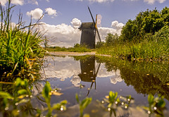 Millpond (Richard Littler) Tags: summer sky reflection canon landscape wideangle birkenhead manual wirral merseyside bidston fl19mmf35