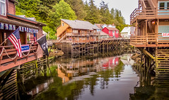 Creek Street, Ketchikan Alaska (Lee Edwin Coursey) Tags: 2016 alaska ketchikan uncruise unitedstates adventure buildings cruise landscape nature town travel water