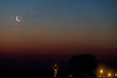 Conjunction Moon - Aldebaran (Scorpion-66) Tags: colors sunrise alba luna aldebaran congiunzione canon70200f28isii canon5dsr