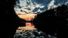 night sky (arvosoosalu) Tags: city sunset summer sky nature sunshine weather night river walk