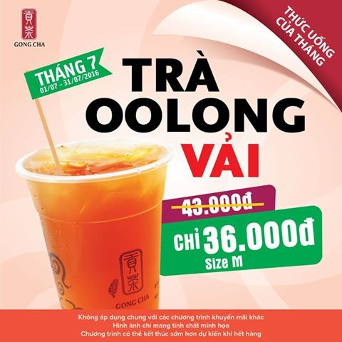 Gong Cha of the Month - Trà Oolong vải