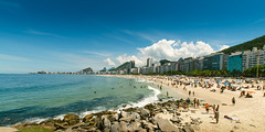 Praia de Ipanema (Nick Sloter) Tags: ocean city travel blue sea sky people panorama mer tourism beach water rio brasil clouds spring sand nikon waves cityscape outdoor sigma sunny bluesky ipanema sigma1020mm riodejenairo nikond5100