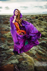 Icelandic Adventures - Our Muse (lunahzon) Tags: iceland mossyhills lunahzonphotography reyendesignstudios windy cloak melancholy highart colorful travel adventure