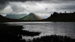 clair obscur au Praz de Lys (fafisavoie) Tags: lac contrejour obscur monochrome praz alpes montagne