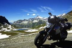 Col de l'Iseran  2770m (_Kry_) Tags: gsr600 motorcycle motorbike mountain highaltitude saturday afternoon enjoylife suzuki mototouring alps landscape colorful valdisere alpi rideordie sky lake road hill mototurismo