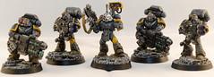 Red Scorpion Devastator Squad (Will Margett Photography) Tags: gamesworkshop warhammer 40000 40k spacemarine redscorpion devastator miniture model nikon d7000