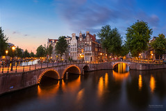 Amsterdam evening mood (pieter.struiksma) Tags: amsterdam evening keizersgracht gracht canal lights reflections dutch buildings architecture water sky sunset