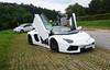 LP700-4 Roadster (jansolanellas) Tags: lamborghini aventador roadster bianco blackrims wings doors up austria photoshoot phone smasung galaxy s5 sv