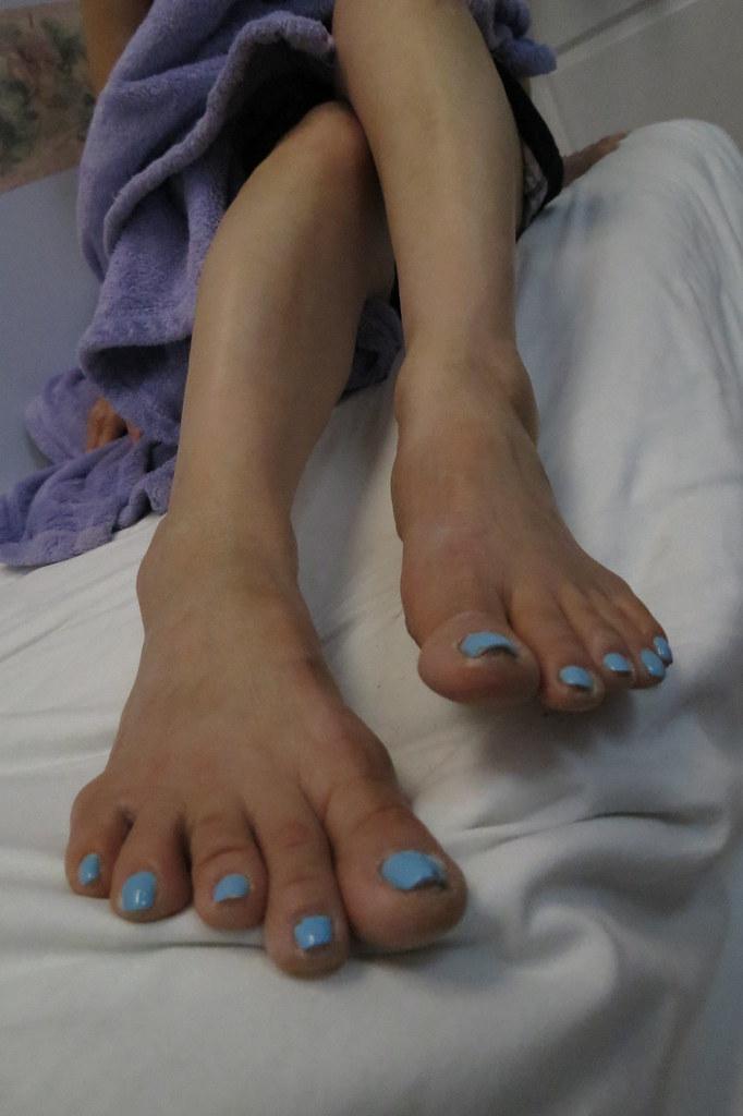 girls feet getting fuck