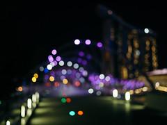 Helix Bridge (tscherhyl) Tags: bokeh singapore helix bridge marina bay sands archit architecture nightscape