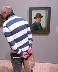 Tuesday Colours - Stripes Forever (Pushapoze) Tags: newyorkcity thewhitneymuseum stripes edwardhooper selfportrait hat