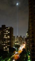 9/11 Memorial (UrbanphotoZ) Tags: september11 911 memorial tower lights worldtradecenter night westendave clouds floodlights beams manhattan newyorkcity newyork nyc ny