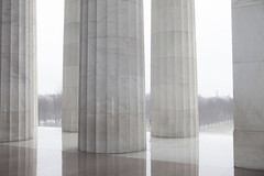 IMG_8170 (awebbMHAcad) Tags: washingtondc abstract pattern texture dc column columns lincoln memorial lincolnmemorial light lines rain rainy cloud cloudy