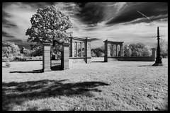 The Vandeventer Place Gates in Infrared - No. 2 (Nikon66) Tags: vandeventerplacegates infrared forestpark stlouis missouri nikon d800 explored
