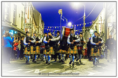 04/52 Pipe and Drum Marching Band (Marty Cooke) Tags: bagpipes carnival festival streetphotography people outdoor outside nightphotography lowlight edge border photoborder donegal countydonegal codonegal ballyshannon