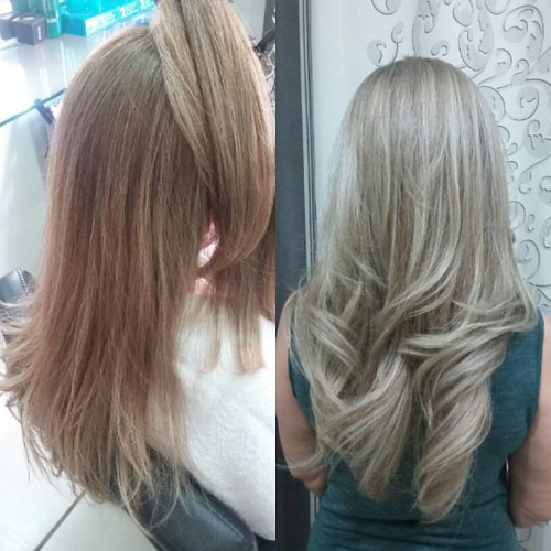 Light hair by @marcoslsoares  Cor e reconstrução.  #felithi #cosmeticosprofissionais #blendplex #blonde #cabelosecia #revistacabelos #ecodermeprofessional #lighthair #hairstyle #hairbrasil #ecosmetics #eunoperfeitas #modaparameninas #lookperfeito #guerrad