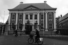 Mauritshuis, The Hague (RW-V) Tags: bw monochrome bike bicycle museum noiretblanc nederland thenetherlands denhaag muse bn sw bicyclette paysbas thehague fahrrad fiets niederlande radfahrer zw mauritshuis fietser johannesvermeer lahaye 10000views 5000views thegirlwiththepearlearring 15000views 3000views 2500views 100faves 4000views 6000views 3500views canonefs1755mmf28isusm 5500views 80faves 4500views 120faves 7500views canoneos60d 6500views 12500views 17500views dwwg
