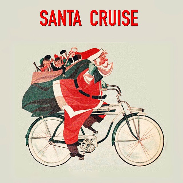 #Santa #Cruise.  #Xmas eve greetings from #California