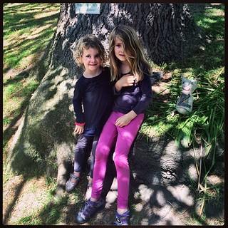 365/307 • we are in the most beautiful garden - Zoe, Daisy and Z-Mow in dappled shade • #2014_ig_307 #6yo #4yo #heronswood #shade #tree #morningtonpeninsula #dromana