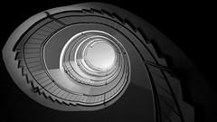 the eye (thanx Elena ;-) (pix-4-2-day) Tags: staircase stairs steps banister treppe treppengeländer geländer black white schwarzweis aufstieg pix42day stairway
