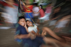 (briyen) Tags: boys children play swing hammock laugh dumaguete 2014