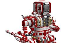 """""""Templar"""" 165ton Hero Class Mech (-Lee Barton-) Tags: lego military futuristic mech templar ldd missilelauncher internalview legomech heroclass"""