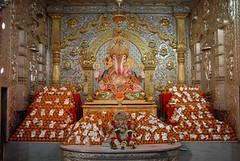 Dagdusheth- ladu bhog (narendrazechao) Tags: decorations spiritual ganapati bappa moraya silverinterior dagdushethganeshtemple bundiladu