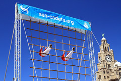 Sea Cadets (David Chennell) Tags: blue liverpool display liverbird synchronised merseyside liverbuilding seacadets