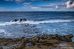 Laguna Beach - Seascape - 8275 (www.karltonhuberphotography.com) Tags: ocean morning sky seascape nature water horizontal reflections landscape outdoors morninglight rocks waves pacific action horizon relaxing adventure pacificocean unknown change laguna southerncalifornia drama swells tidepool clounds lagunabeach vastness seafoam naturephotography 2014 enjoyable approachingstorm landscapephotography roughseas openocean silkywater foregroundinterest nikond7000 karltonhuber