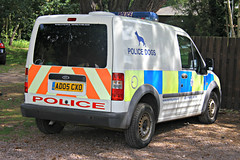 Suffolk Police Ford Transit Connect Dog Section Van (PFB-999) Tags: dog ford wagon suffolk force police headquarters transit vehicle van hq beacons section connect k9 unit lightbar constabulary rotators ad05cxo