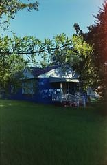 (JacobR97) Tags: blue house film self fuji superia powder 400 kit developed tranquil xtra c41 tetenal