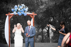Hana & Toby (Timothy M Roberts) Tags: wedding red colour happy berry farm arbor selective