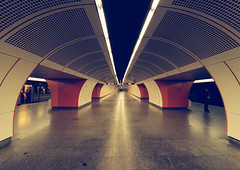 Vienna Tube Station (jwitzsch) Tags: vienna wien public station architecture night austria sterreich nacht availablelight fineart tube tram urbanexploration ubahn architektur tubestation tramway allrightsreserved haltestelle jwitzsch gpspublic joergwitzsch